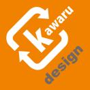 「kawaru-design」のロゴ