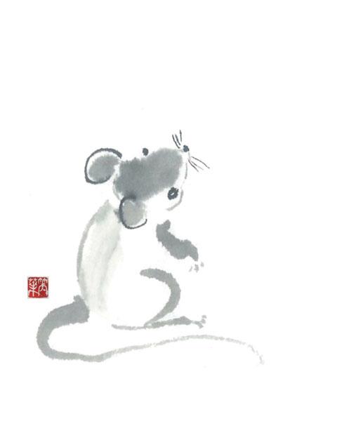 ネズミのイラスト「中西咲葉」のPR画像