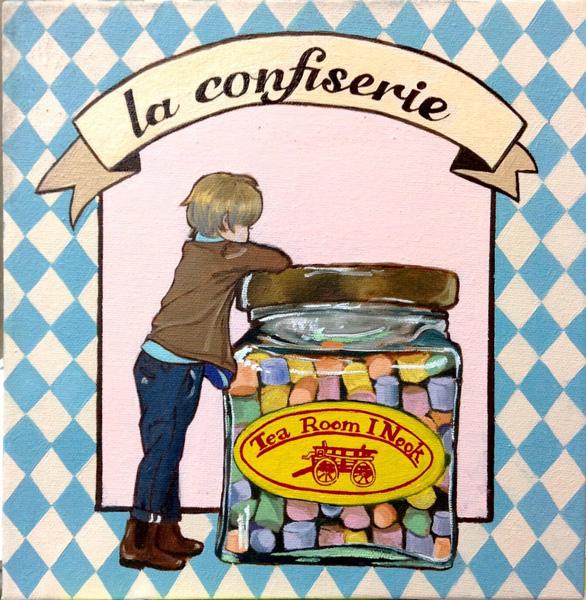 少年とお菓子のイラスト「Napolitain City」のPR画像