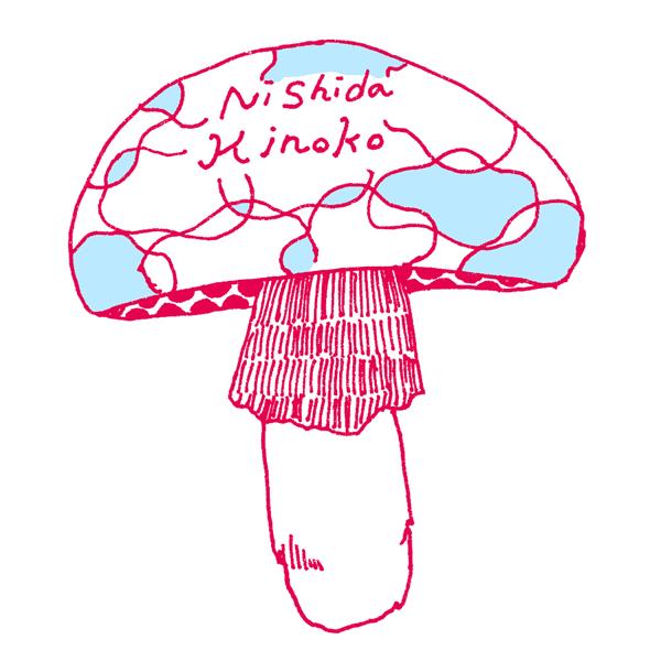 ニシダキノコロゴ