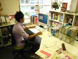 仕事中の北村さん