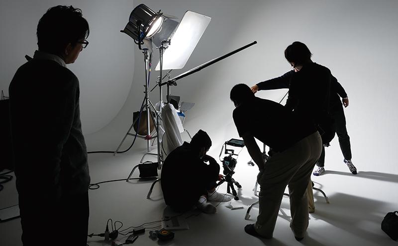 動画の撮影風景