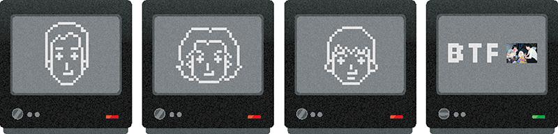 イラストレータユニット「BTF」での作例
